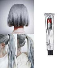 New 100ml Fashion Permanent Punk Salon Hair Dye Light Gray Color Long Lasting Cream