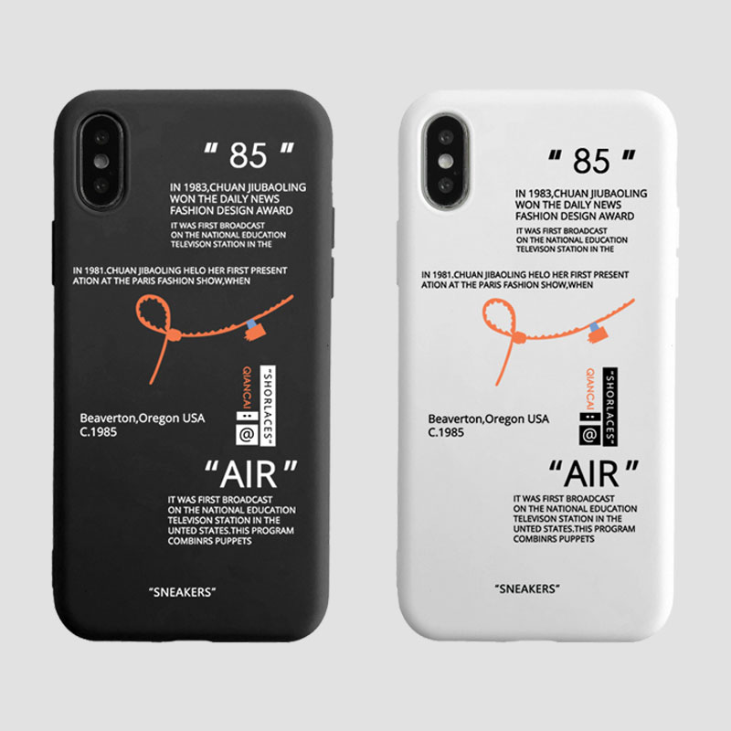 Fashion Tides brand sneakers Phone Case For iPhone 11 Pro X XR XS MAX 7 8 6 Plus Simple label letter candy color Cover Coque