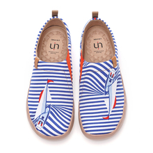 Fashion Sneakers UIN Painted Canvas Slip On Lightweight Comfortable Women's Casual Ocean-Series
