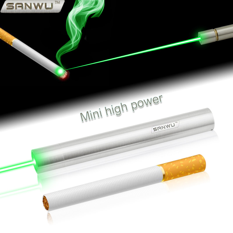 Pocket Series 50mW / 100mW / 150mW 505nm / 520nm / 525nm Focusable Green Laser Pointer (Stainless)