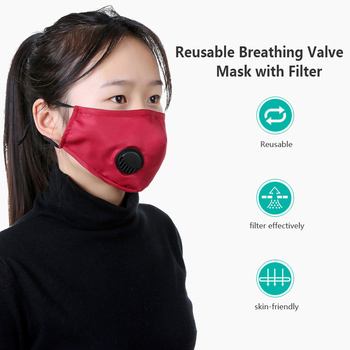 Cotton bacteria proof Flu Face masks PM2.5 Black mouth Mask anti dust mask Activated carbon filter Windproof Mouth-muffle Care