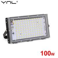 100W Reflector LED 220V 240V impermeable IP65 proyector al aire libre Luz de inundación Reflector LED Reflector iluminación de La farola