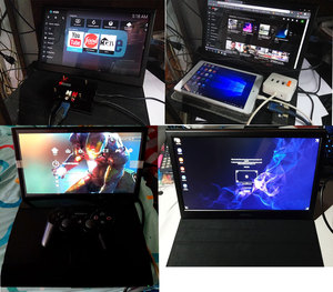 Портативный монитор 15,6-дюймовый сенсорный экран HD lcd HDMI USB дисплей для компьютера ПК PS4 x360 1080P IPS игровой монитор Raspberry Pi
