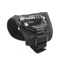 цена на New 360 Degree Rotation Protection Hand Wrist Strap Mount For GoPro Hero 6/5/4/3 +/3 for Go Pro SJCAM