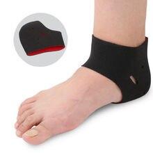 Cushion Heel-Socks Shoe-Inserts Massager Foot-Protector Women Black Feet for Cracked