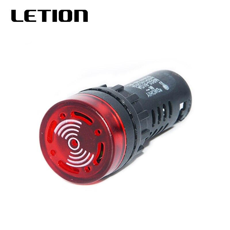AD16-22SM Red High Decibel Miniature Electronic 22MM Intermittent Sound Flash Alarm Buzzer  12V 24V 36V 36V 48V 110V 220V 380V