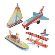 4в1 Деревянные игрушки для рисования для детей транспорт рисунок граффити окраска картина ранняя развивающая игрушка