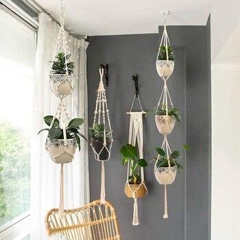support pour plantes suspendu