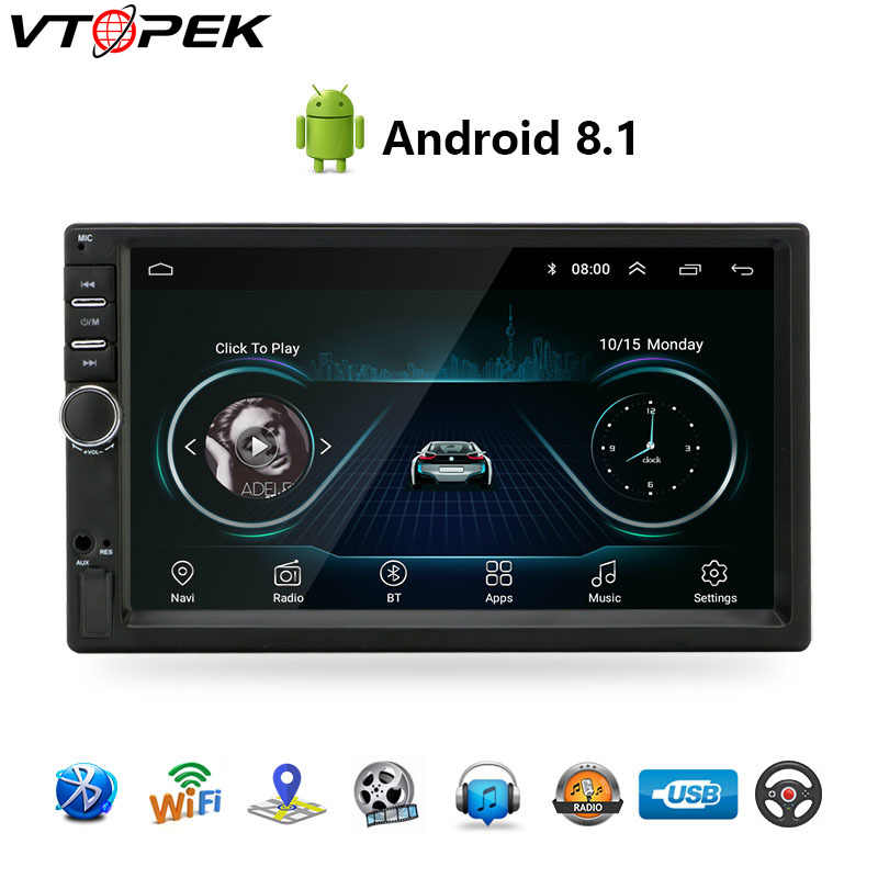 "Android 8,1 Car Radio navegación GPS Wifi 7 ""178*102mm 2din reproductor Multimedia Audio para Nissan TOYOTA Kia RAV4 Honda VW Hyundai"