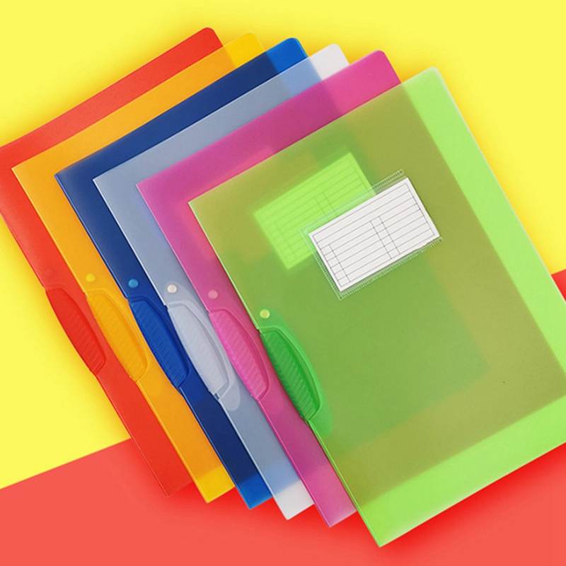 Rotary Clamp And Rod Clamp File Folder Multifunctional Conference Office Supplies Binder Candy Color Portable File Pocket