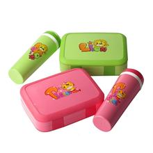 Cartoon Lunch Box Microwave Leakproof BPA Free Set for Kid Children Student Portable Bento with Bottle