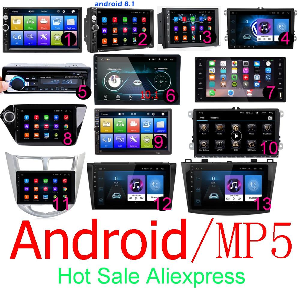 Android 2 Din Car Radio RAM 1GB+ ROM 16GB Android 7'' 2Din Car Radio Autoradio GPS Multimedia Player For Ford VW Golf