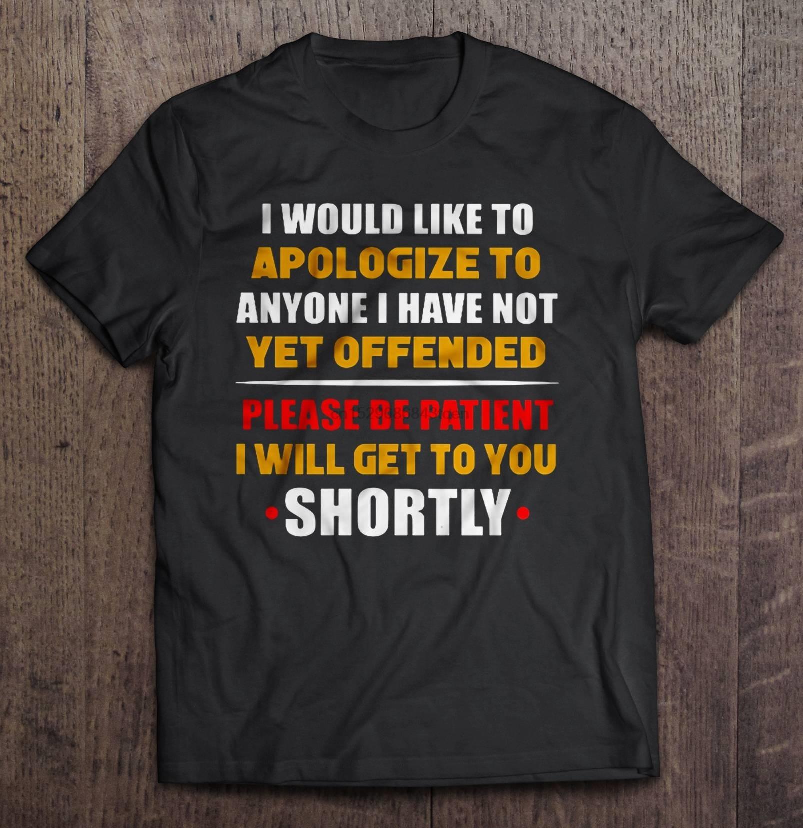Weekend Nachos Men/'s  Apology T-shirt Black