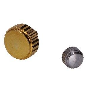 Image 4 - Piezas de Repuesto de corona de reloj a prueba de agua surtidos de oro y plata Domo cabeza plana accesorios de reloj Kit de herramientas de reparación para relojero