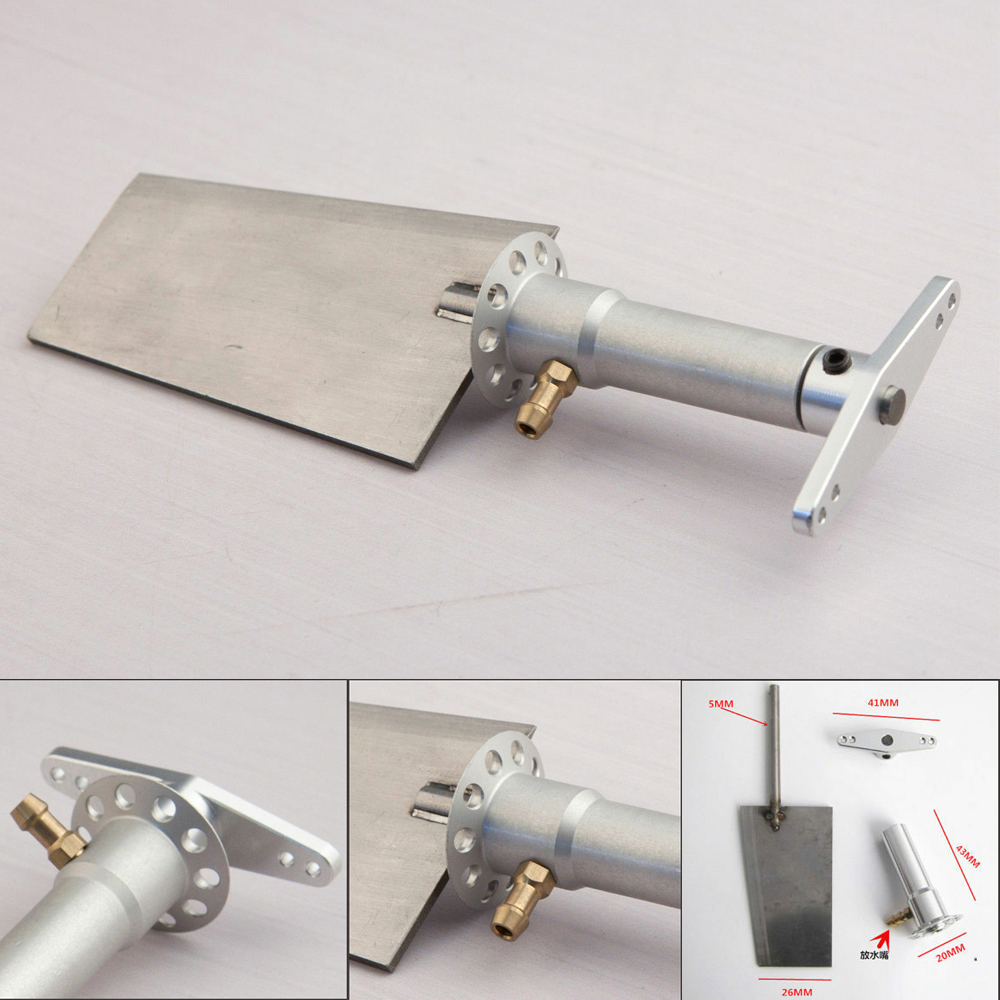 1pc 26mm Metal Steering Rudder Steering-Wheel Kit Spare Parts for RC Boat  Aluminum