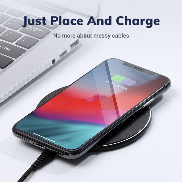 Wireless Charger for iPhone Xs Max X 8 Plus 10W Fast Charging Pad for Samsung Note 9 Note 8 S10 Plus 3