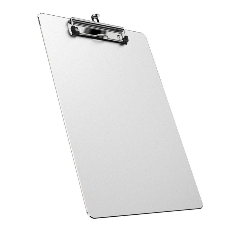 A4 Aluminum Alloy Writing Clip Board Antislip File Hardboard Paper Holder Office