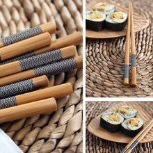 5 pares/lote japonês sushi reutilizável pauzinho natural sushi comida chinesa utensílios de mesa amigável portátil pauzinhos conjunto