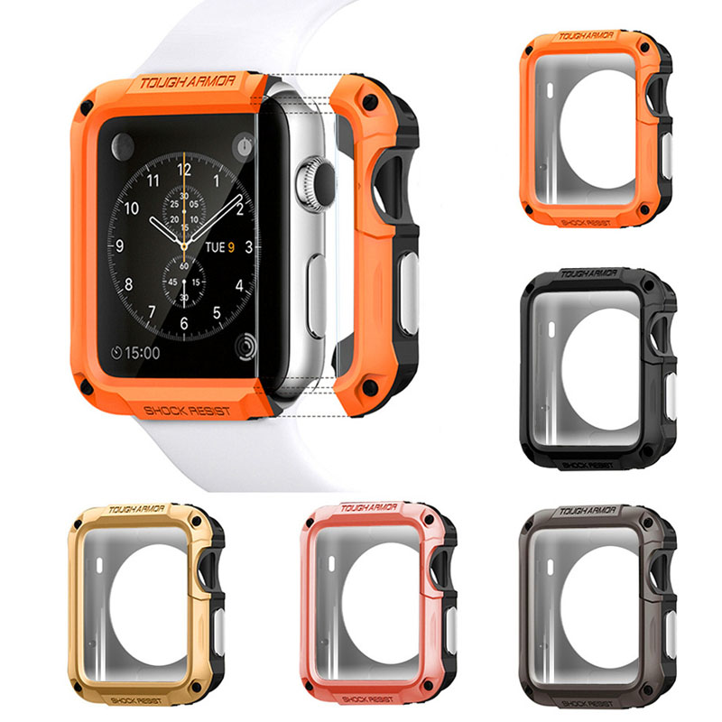 SGP Protector cases cover for <font><b>Apple</b></font> <font><b>Watch</b></font> case <font><b>38</b></font>/42mm 40mm 44mm PC Case For iwatch 5 4 <font><b>3</b></font> 2 1 Anti-fall Frame Shell Accessories image