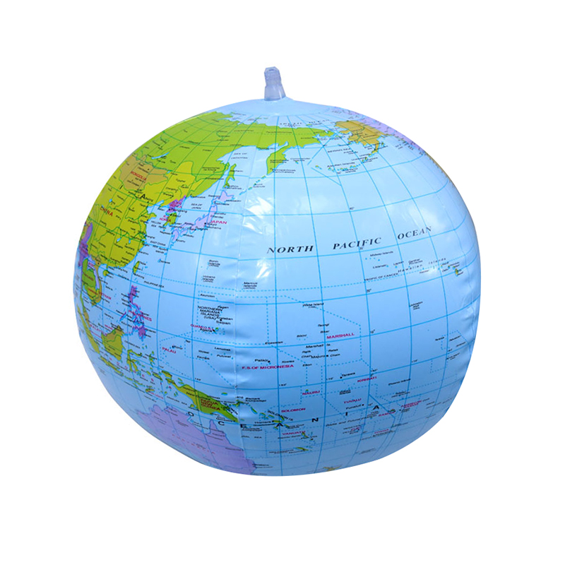 1pcs 16 Inch Inflatable Globe English Version Of The World Earth Ocean Map Children Geography Education Toys Student Supplies