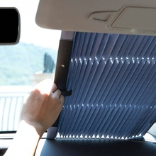 Popular Car Windshield SunShades Cover Auto Retractable Curtain Protector Shield Visor for SUV/MPV/Truck Front Rear Window