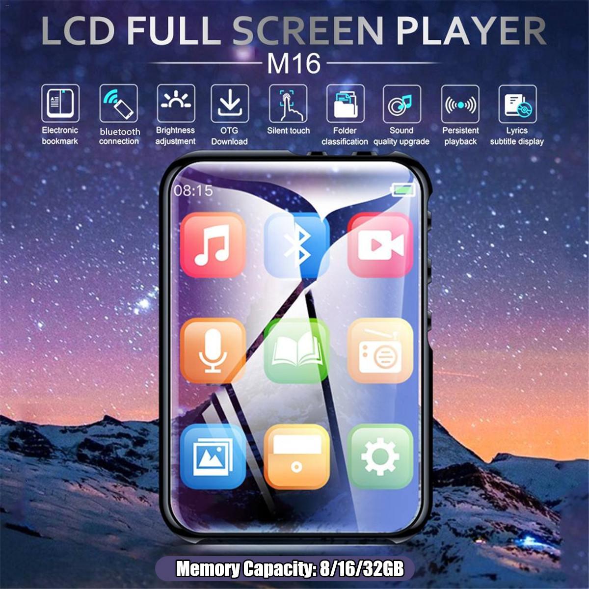 Player Polegada Lcd Full Touch Screen 8 – 16 32gb Bluetooth 4.0 Stereo Music Mini Portátil Fino Mp3 Jogador M16 Mp4 2.4