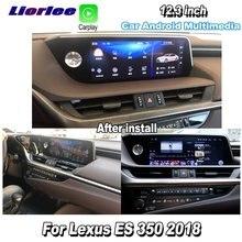 Liorlee Автомобильный мультимедийный плеер для Lexus ES 350 2018, Android, GPS, навигация, аудио, радио, стерео, DVR, видеорегистратор для вождения