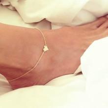 New Heart Female Anklets Barefoot Crochet Sandals Foot Jewelry Leg On Ankle Bracelets For Women Chain ns1