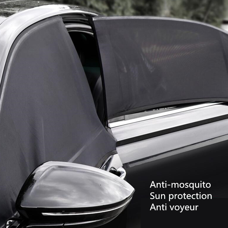 Car-Accessories Sunshade-Cover Windows Velcro Uv-Protect Perspective Universal Mesh Can-Be-Opened