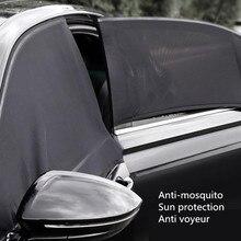 Parasol lateral de coche, cubierta de protección UV, perspectiva, malla de Velcro, accesorios universales para coche, se pueden abrir ventanas