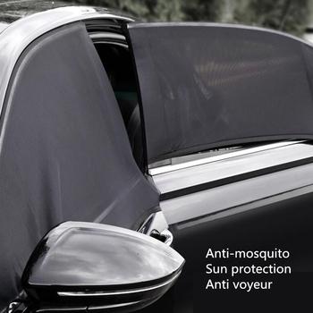 Osłony przeciwsłoneczne do samochodu boczna szyba osłona przeciwsłoneczna ochrona UV perspektywa mesh Velcro uniwersalne akcesoria samochodowe okna można otworzyć tanie i dobre opinie CARSUN CN (pochodzenie) Gauze