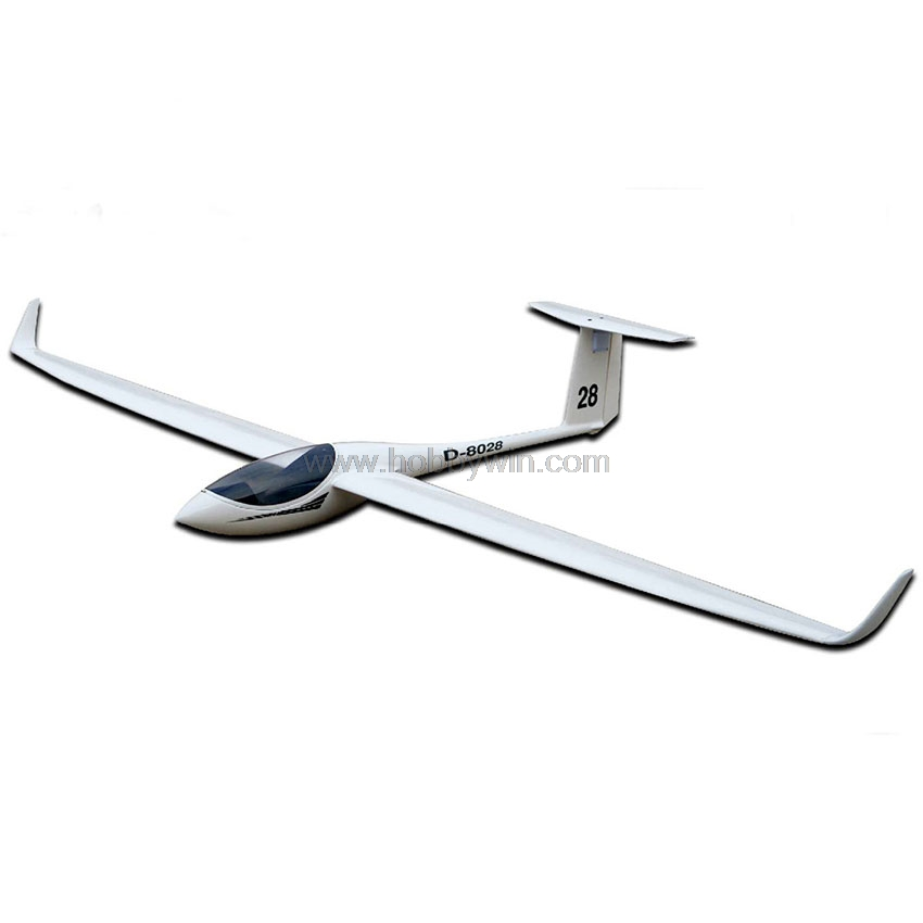 FlyFly ASW-28 Slope Glider 2530mm ARF without eletronic parts RC Fiberglass Sailplane Model Airplane