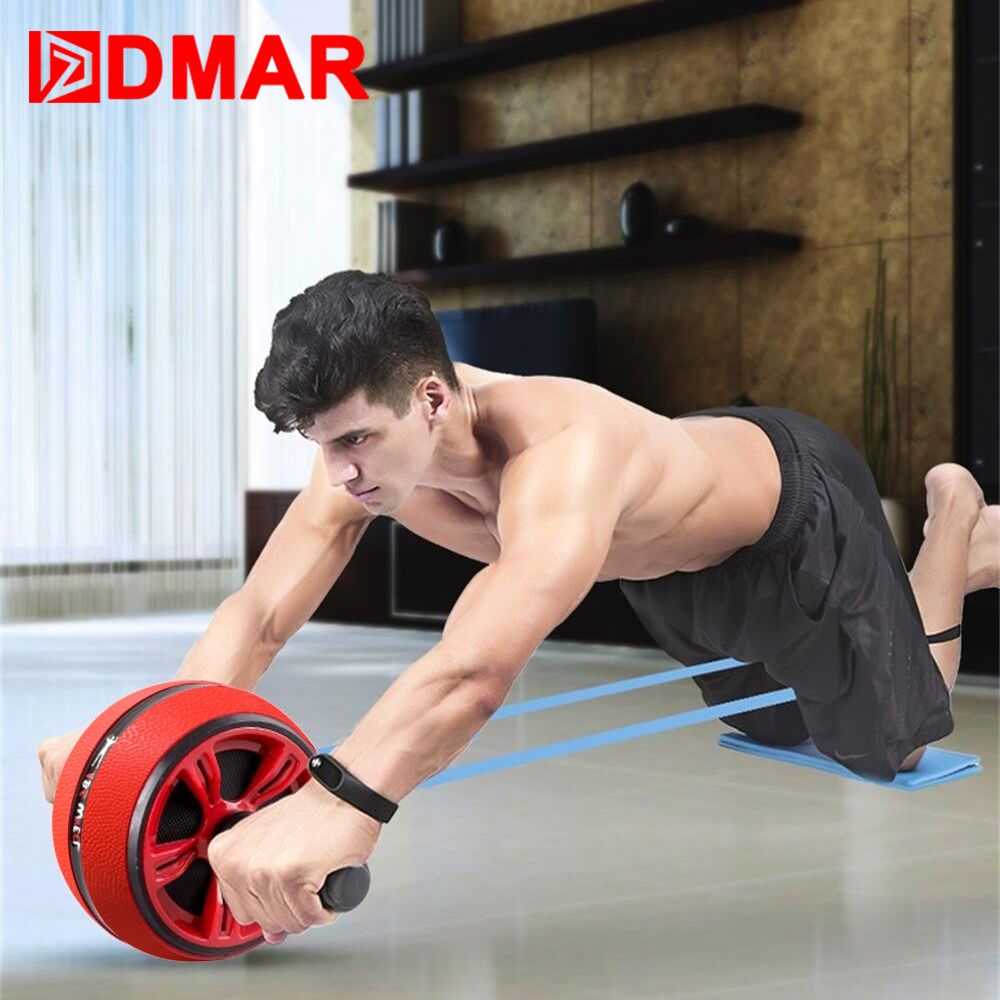 DMAR Silent TPR Abdominal Wheel Roller Trainer Fitness Equipment Gym Home Exercise Body Building Ab roller Belly Core Trainer image