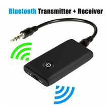 Bluetooth 5.0 2-in-1 Transmitter and Receiver 3.5mm Wireless Adapter For PC Headphones Car/Home Stereo Device phone Computer цена и фото