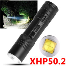 XLamp xhp50.2 powerful usb led flashlight Zoom torch upgrade 18650 26650 Rechargeable battery flashlight Z90+1473(China)