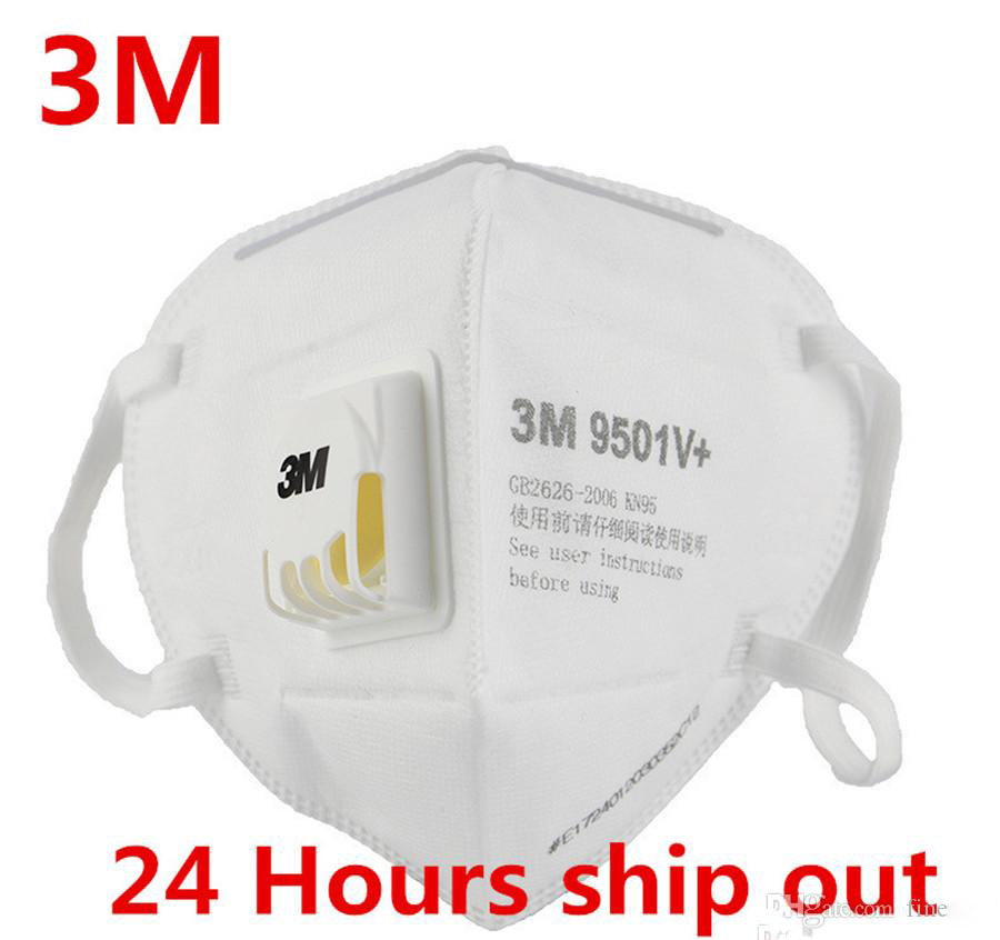 In Stock 3M Mask 9501V Anti Fog Dust Disposable Face Mask With Respiratory Valve Protective Labor Protection Dust Mask