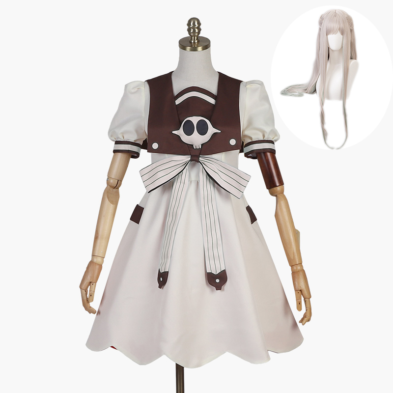 2020 New Anime Jibaku Shounen Hanako Kun Nene Yashiro Cosplay Costume Wig Women Dress For Halloween Party And Wig Free Delivery