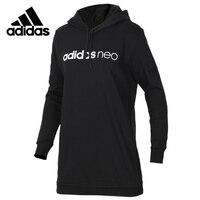 Original Adidas W OS EMBRD HDY Womens Long Sleeves T shirt Polyester Sweatshirt DM4298