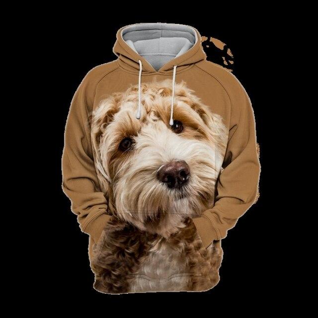 2021 New 3D Full body  print Pet hoodie  Funny  dog hoodies Men\women adult children's Cute dog pattern tops European size 5
