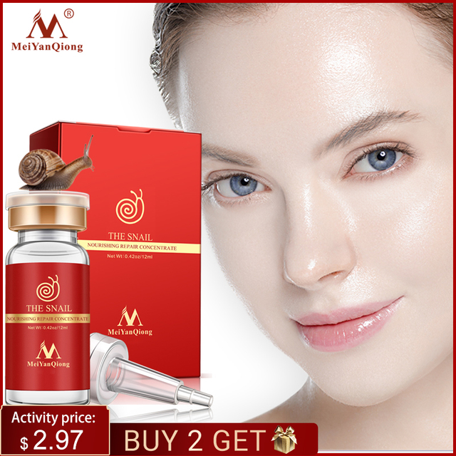 High Quality Snail100% Essence Hyaluronic Acid Liquid Whitening Spot Essence Shrink Pores Ampoule Anti acne Regenerative Essence