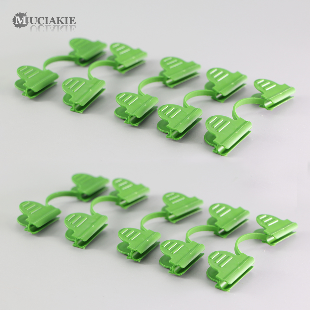 MUCIAKIE 30PCS Green Plastic Clip For 4mm 6mm Round Tube Stake Garden Retaining Clip For Greenhouse Frame Pipe Film Sunshade Net