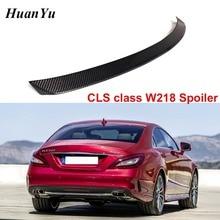 Carbon Fiber Rear Trunk Spoiler Voor Mercedes Benz W218 2011 2016 Cls 280 CLS300 CLS350 CLS500 Boot Lip vleugels Auto Styling