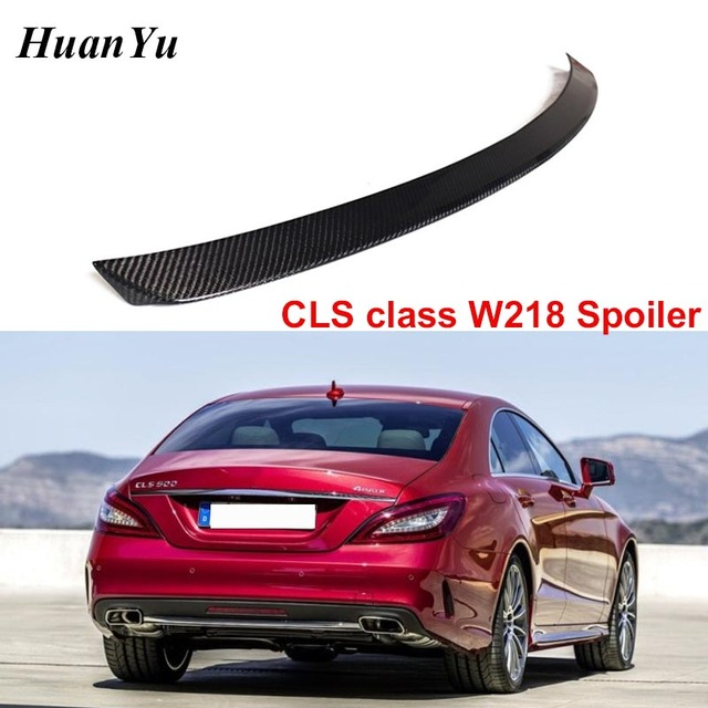 Carbon Fiber Rear Trunk Spoiler for Mercedes benz W218 2011 2016 CLS 280 CLS300 CLS350 CLS500 Boot Lip Wings Car Styling