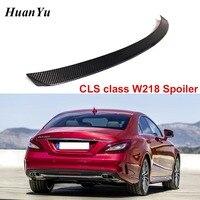 Karbon Fiber arka bagaj Spoiler için Mercedes-benz W218 2011-2016 CLS 280 CLS300 CLS350 CLS500 Boot dudak kanatları araba Styling