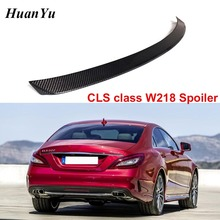 คาร์บอนไฟเบอร์สปอยเลอร์ด้านหลังสำหรับ Mercedes Benz W218 2011 2016 CLS 280 CLS300 CLS350 CLS500 Lip ปีกรถจัดแต่งทรงผม