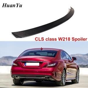 Image 1 - Задний спойлер для багажника из углеродного волокна для Mercedes benz W218 2011 2016 CLS 280 CLS300 CLS350 CLS500, сапоги, крылья для губ, Стайлинг автомобиля
