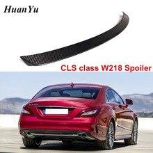 カーボンファイバーリアトランクスポイラーメルセデス · ベンツ W218 2011 2016 cls 280 CLS300 CLS350 CLS500 ブーツリップ翼車のスタイリング
