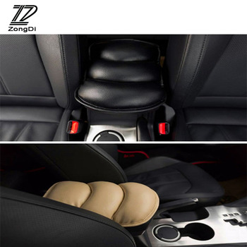 ZD 1pcs Car Styling Armrests Center Console Cover Pad For Alfa Romeo 159 BMW E46 E39 E36 E90 Audi A3 A6 C5 A4 B6 B8 Accessories image