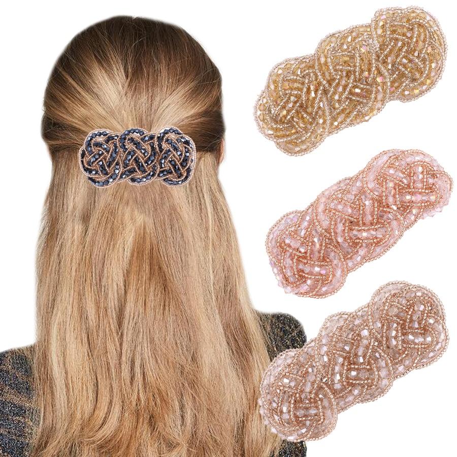 Haimeikang Women Rhinestone Hair Clip Fashion New Barrette Tiara   Headwear   Creative Ladies Elegant Hairpin Hair Accessories