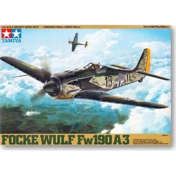 Tamiya 61037 1/48 German Luftwaffe Focke-Wulf Fw 190 A-3 Figther Aircraft Plane Display Toy Plastic Assembly Building Model Kit недорого